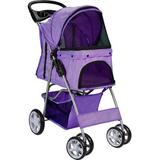 Paws & Pals - Paws & Pals Folding Dog & Cat Stroller, Purple