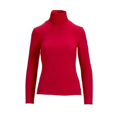 Boston Proper - So Sexy Basic Turtleneck Top - Red - RED - XX SMALL