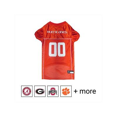 Pets First NCAA Dog & Cat Mesh Jersey, Miami Hurricanes, Large