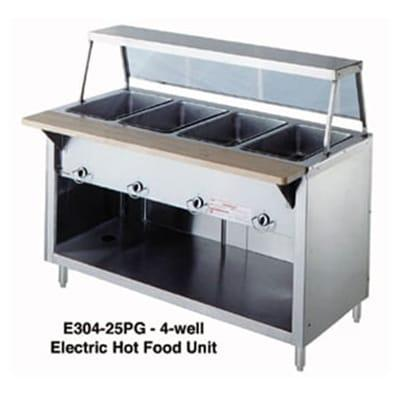 Duke 302-25SS 32 Hot Food Unit w/ 2 Dry Heat Wells, Stainless Top, Body & Shelf, LP on Sale
