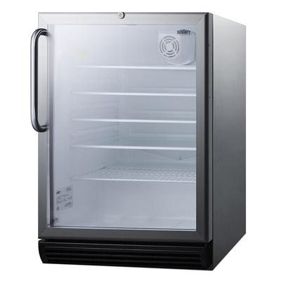 Summit SCR600BGLCSS 5.5 cu ft Undercounter Refrigerator w/ (1) Section & (1) Door, 115v on Sale