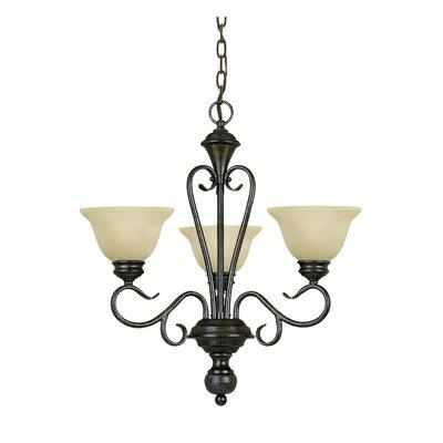 Claycomb 3 Light Shaded Classic Traditional Chandelier