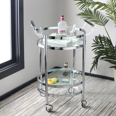 Wrought Studio Hendrum Bar Cart Frame Glass Metal In Chrome Size Large Larger Than 35 Small Less Than 24 Wayfair From Wayfair Accuweather Shop
