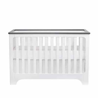 Suite Bebe Brooklyn Island 3-in-1 Crib in White/Grey - 11999-WGY
