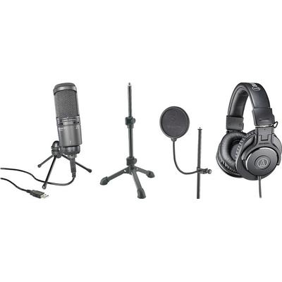 Audio-Technica Solo Podcast system Mic,Stand,Headphones on Sale
