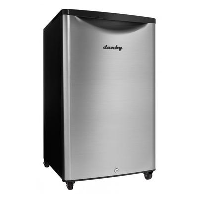 Danby DAR044A6BSLDBO 4.4 cu ft Undercounter Outdoor Refrigerator w/ Solid Door – Black/Stainless, 115v