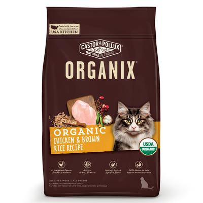 America\'s #1 organic cat food brand, Organix, is the only complete line of USDA organically certified cat food. All Organix recipes are made with organic, free-range chicken or turkey as the #1 ingredient. There are no chemical pesticides, synthetic...