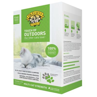 Dr. Elsey's Touch of Outdoors Clumping Clay Cat Litter, 20 lbs.