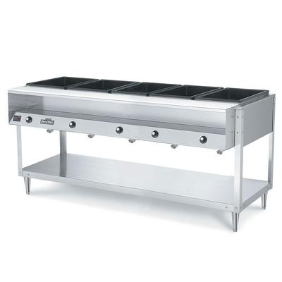 Vollrath 38005 5 Well Hot Food Table - Thermostat, Plate Rest, Cutting Board, 120v