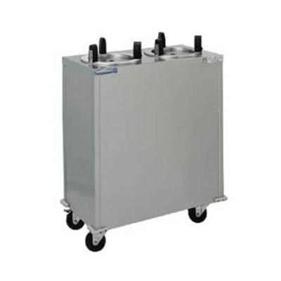 """Delfield CAB2-1013 32 1/4"""" Mobile Dish Dispenser w/ (2) Columns, Stainless"""
