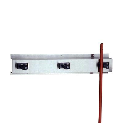 Bobrick B-223 X 24 24L Wall Mounted Holder w/ 3 Mop or Broom Capacity, Stainless on Sale