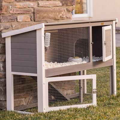 The ecoFLEX Columbia Rabbit Hutch is an ideal home for your pet. Ample size so there is plenty of room to move around. Twin living areas. Lower level provides access to grass and a cool shady area, important in warm weather. Easy ramp access to the...