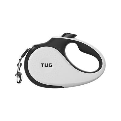 TUG Retractable Tape Dog Leash, 16-ft, White, Medium; This retractable leash by TUG takes design and functionality to the next level. Built with strength and durability in mind, this modern leash has high-quality internal parts and a thoughtful design...