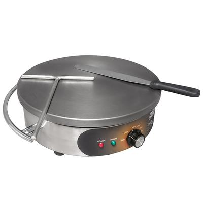 Waring WSC160X Crepe Maker w/ 16 Cast Iron Cook Surface & Adjustable Thermostat on Sale