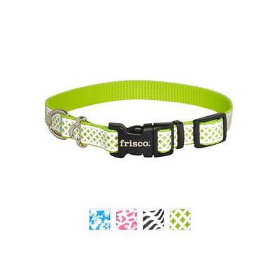 Frisco Patterned Reflective Dog Collar, Diamond Tile, Small; The Frisco Reflective Dog Collar collection feature stylish, reflective patterns to make sure your pooch is the hippest pup on the block, day or night. The reflective patterns aren't just...