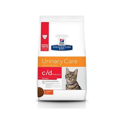 Hill's Prescription Diet c/d Multicare Urinary Care Stress with Chicken Dry Cat Food, 17.6-lb bag