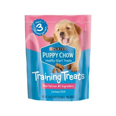 Puppy Chow Healthy Start Salmon Flavor Training Dog Treats, 24-oz pouch