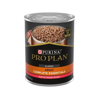 Purina Pro Plan Savor Classic Beef & Chicken Entree Grain-Free Canned Dog Food, 13-oz, case of 12