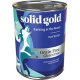 Solid Gold Barking at the Moon 95% Beef Recipe Grain-Free Canned Dog Food, 13.2-oz, case of 6