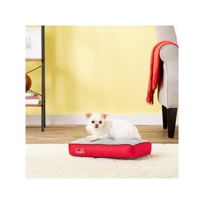 Brindle Soft Memory Foam Dog Bed, Red, 17 x 11 in
