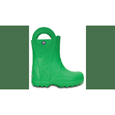 Crocs Grass Green Kids' Handle It Rain Boot Shoes