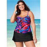 Plus Size Swim Dress One-Piece Swimsuits & Monokinis - Purple/black/pink/blue