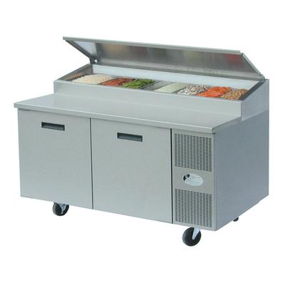 Randell 8260N-290-PCB 60 Pizza Prep Table w/ Refrigerated Base, 115v on Sale