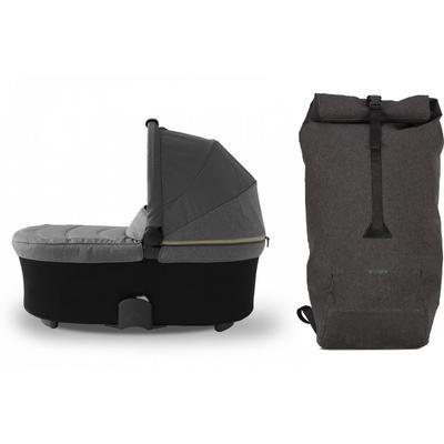 Micralite SmartFold Bassinet & Shopping Bag Accessory Bundle - Carbon