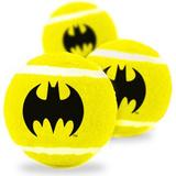 Buckle-Down Batman Squeaky Tennis Ball Dog Toy, 3 pack