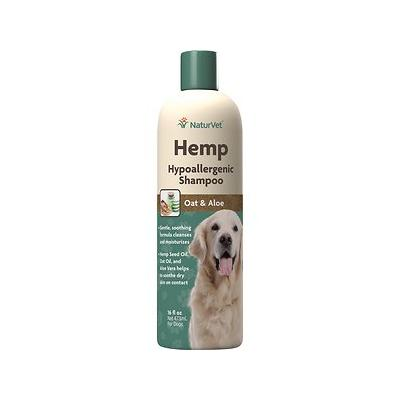 NaturVet Hemp Hypoallergenic Dog Shampoo with Oat & Aloe, 16-oz bottle