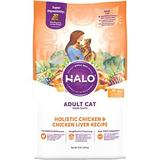 Halo Holistic Chicken & Chicken Liver Recipe Adult Dry Cat Food, 10-lb bag