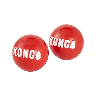 KONG - KONG Signature Balls Dog Toy, 2-pack, Red, Large